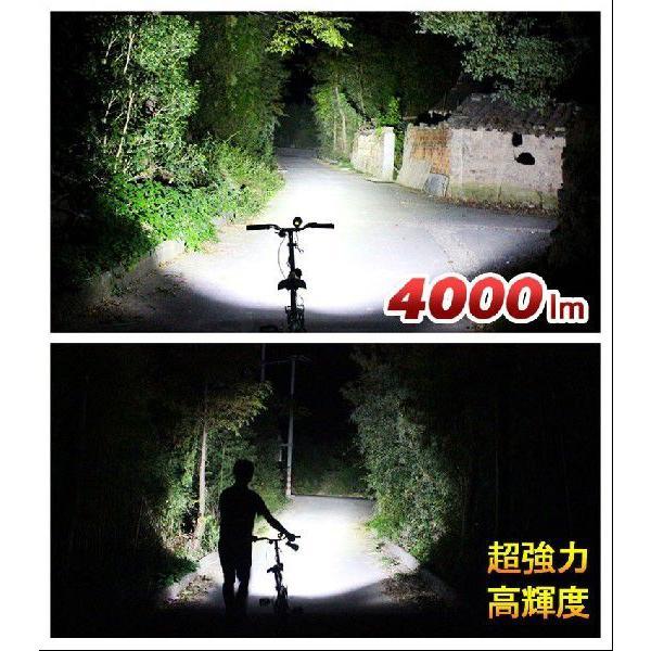 LEDヘッドライト 4000lm ledライト 自転車用ライト ヘッドランプ サイクルライト 防水 懐中電灯 防災グッズ 一年保証 GOODGOODS ES89