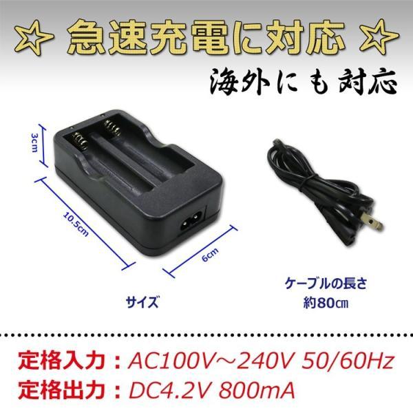 18650リチウムイオン電池専用充電器 二本同時充電可 Li-Ion リチウムイオン充電池 2本用 マルチ充電器 AC100-240V GOODScharger|goodgoods-2|04