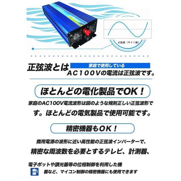 防災 純正弦波 インバーター 12V 100V 定格2000W 最大4000W DC AC インバーター 変圧器 発電機 非常用電源 発電機 インバーター 防災グッズ  SPI2000|goodgoods-2|02