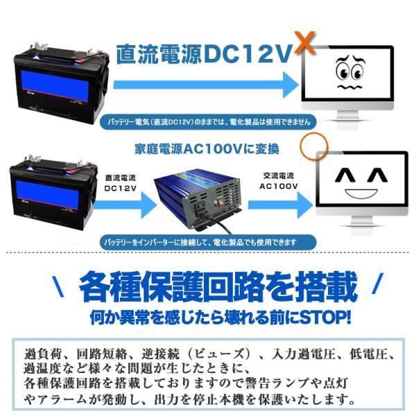 防災 純正弦波 インバーター 12V 100V 定格2000W 最大4000W DC AC インバーター 変圧器 発電機 非常用電源 発電機 インバーター 防災グッズ  SPI2000|goodgoods-2|03
