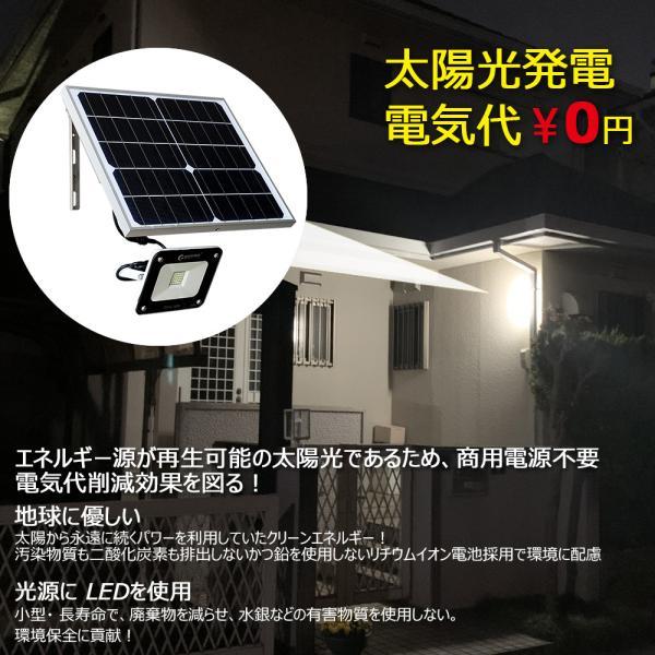 ソーラーライト 屋外 明るい ガーデンライト LED投光器 充電式 20W ソーラー投光器 薄型 電池交換式 昼光色 庭園灯 TYH-16M|goodgoods-2|06