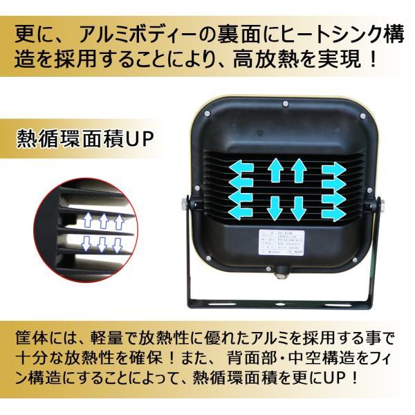 防災 LED作業灯 12V 24V 集魚灯 60W 600W相当 ワークライト 6000lm 路肩灯 夜釣り スポットライト 一年保証 WL06 goodgoods-2 05
