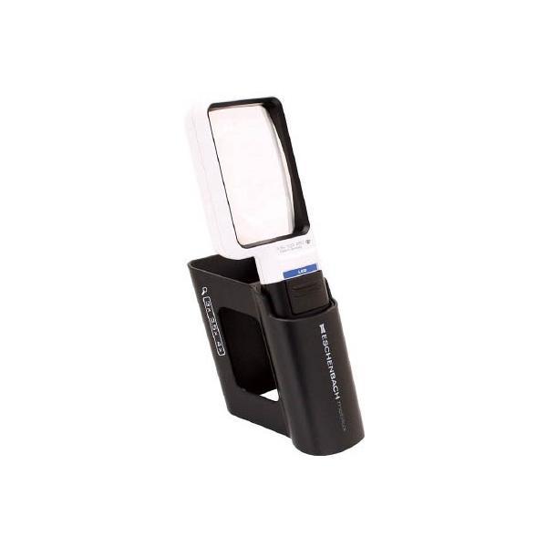 【代引不可】 エッシェンバッハ LEDワイドライトルーペ+専用スタンド付き3.5倍 【15113M】