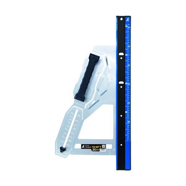 シンワ 丸ノコガイド定規 エルアングル Plus シフト 60cm 寸勾配切断機能付  『79053』