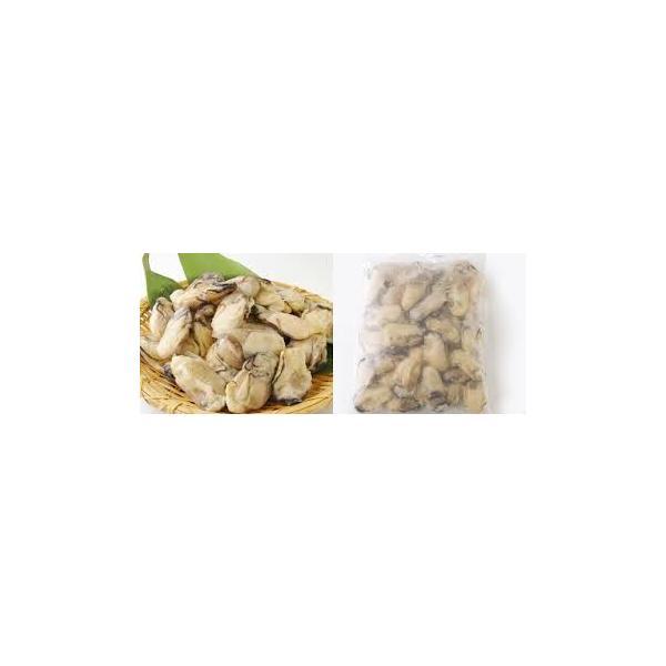 冷凍牡蠣 かき カキ 1kg Mサイズ