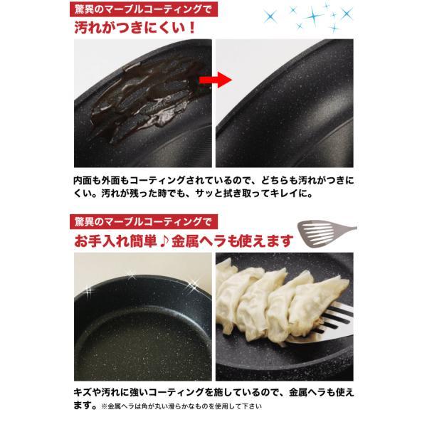 ストロングマーブルキャスト システムフライパン 5点セット 多層コーティング IH対応 調理 料理 デザイン 安い お買得 お買い得|goodlifeshop|03