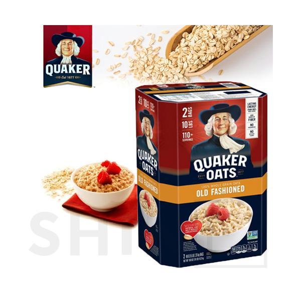 コストコ QUAKER クエーカー オートミール オールドファッションスタイル 4.52kg(2.26kg×2袋)(446586)目玉商品
