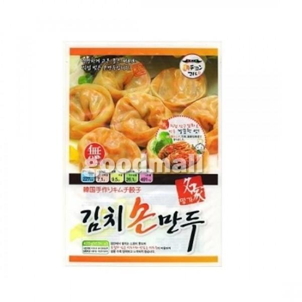 *韓国食品*【クール便・冷凍】チョンマル手作りキムチ手餃子 420g 【代引不可】