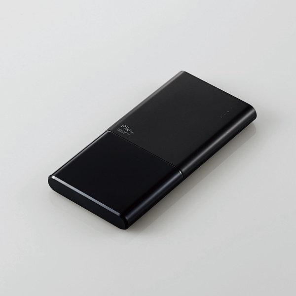最大4.8A出力モバイルバッテリー10000mAh【DE-M08-N10048BK】USB Ax2+Type-Cx1搭載・エレコム製