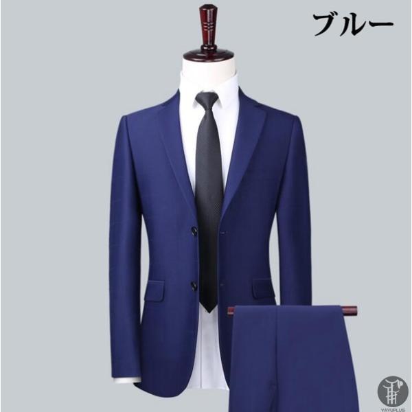メンズ スーツ 上下セット セットアップ 2つボタン フォーマル 紳士服 就活 面接 通勤 出張 セレモニー リクルート テーラード ジャケット goodplus 05
