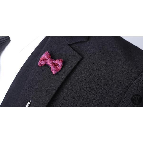 メンズ スーツ 上下セット 2つボタン 紳士服 フォーマル セレモニー ジャケット パンツ スラックス セットアップ テーラード 出張 就活 面接 通勤|goodplus|04