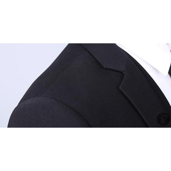 メンズ スーツ 上下セット 2つボタン 紳士服 フォーマル セレモニー ジャケット パンツ スラックス セットアップ テーラード 出張 就活 面接 通勤|goodplus|05