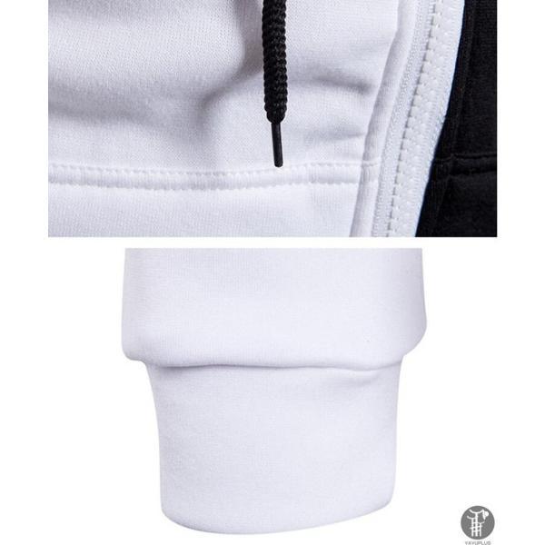 ジップアップ パーカー ジップアップパーカー オーバー メンズ バイカラー 運動着 長袖  代引不可|goodplus|09