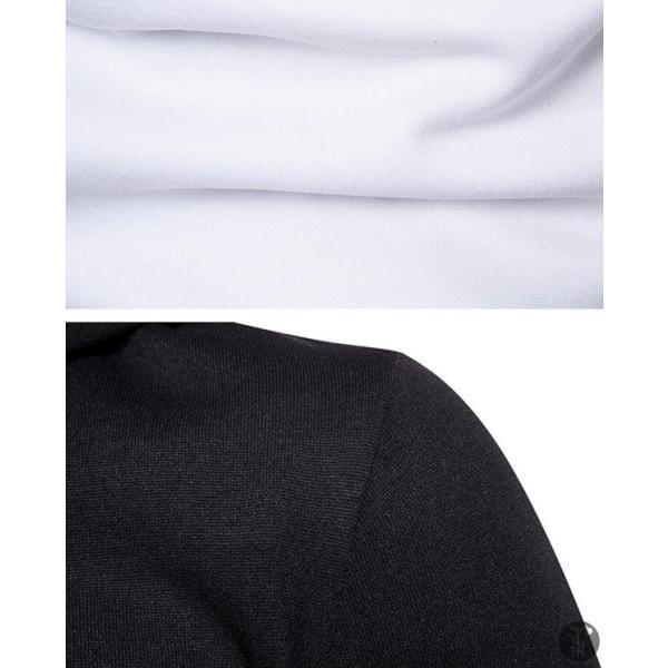ジップアップ パーカー ジップアップパーカー オーバー メンズ バイカラー 運動着 長袖  代引不可|goodplus|10