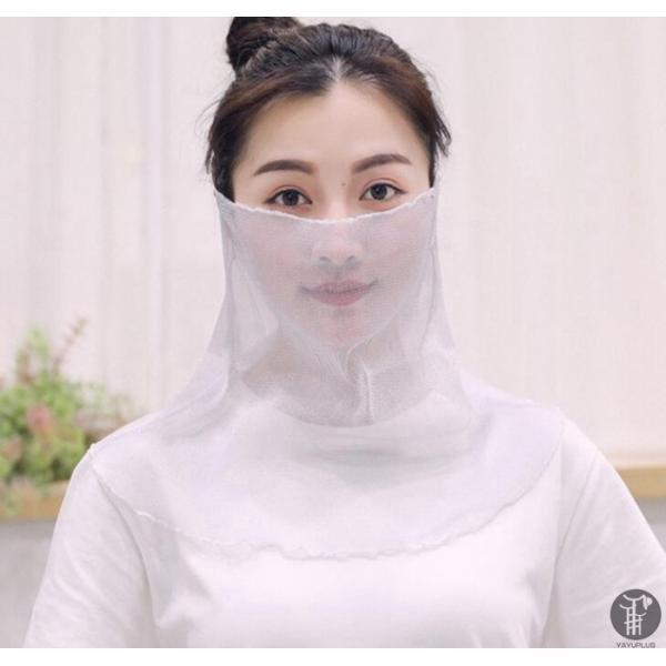 フェイスマスク フェイスカバー 2点セット日焼け UVカットマスク マスク レディース マスク ネックカバー 日焼け防止 顔 紫外線対策 代引不可|goodplus|13