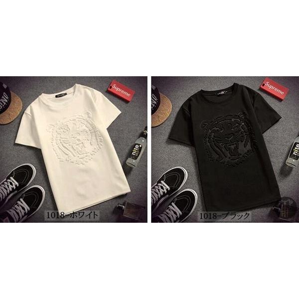 3D立体ロゴプリントTシャツ Tシャツ 半袖 5種類 メンズ クルーネック カットソー 男女兼用 インナー トップス シンプル 代引不可|goodplus|08