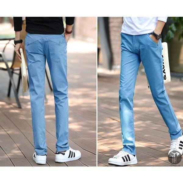 チノパン メンズ ボトムス スキニーパンツ 細身 カラーパンツ 8カラー スリムパンツ メンズ コットン リネン パンツ 代引不可|goodplus|10