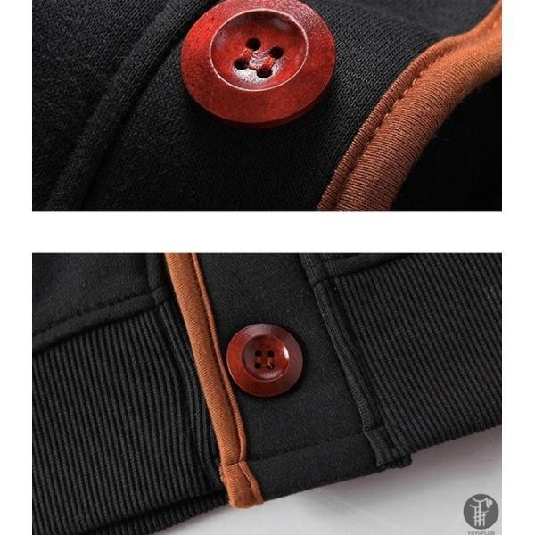 パーカー メンズ トップス ボタン 長袖 フード付き スウェットパーカー 長袖パーカー カジュアル ストレッチ 運動 トレーナー|goodplus|14