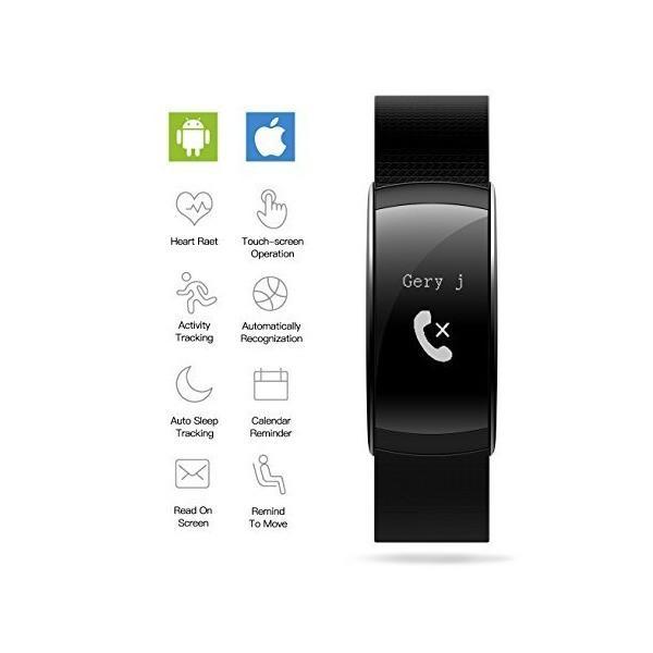 iWOWNfit I6 Pro スマートウォッチ BLACK ブラック iphone android 日本語対応 スマートブレスレット 防水