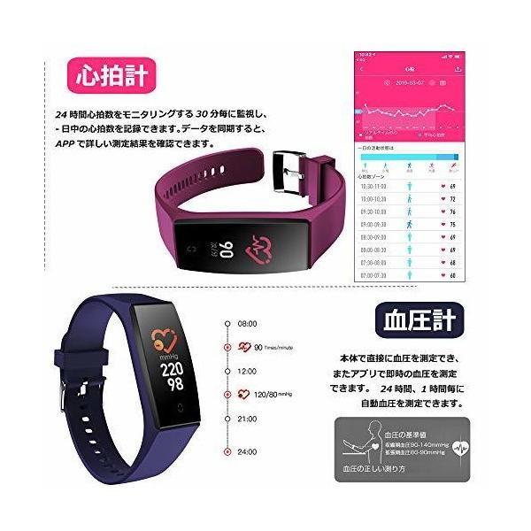 COOWA スマートウォッチ 2019 最新版 血圧計 心拍計 活動量計 スマートブレスレット 歩数計 腕時計 IP67防水 カラースクリーン 運動