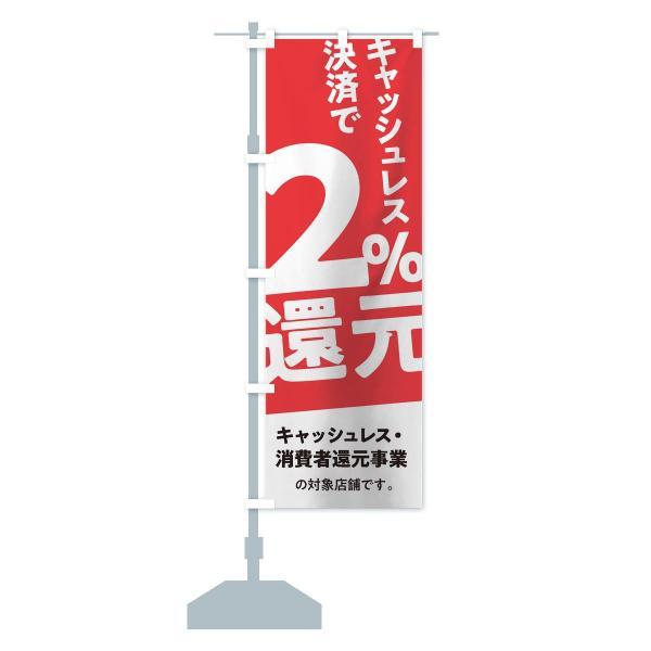 のぼり旗 キャッシュレス決済で2%還元 goods-pro 13