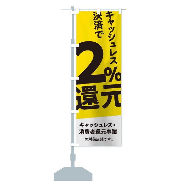 のぼり旗 キャッシュレス決済で2%還元 goods-pro 14