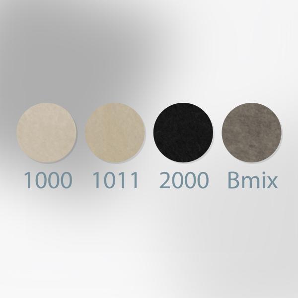ノックス カラーフェルト生地 白黒グレー 日本製|goods-pro|02