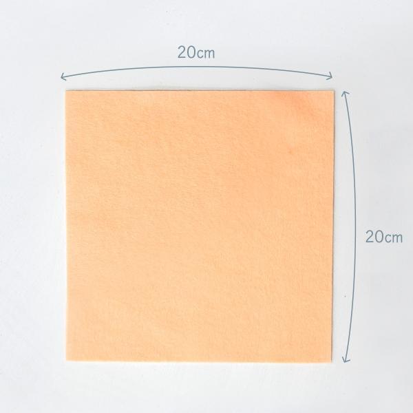 ノックス カラーフェルト生地 黄色系 日本製|goods-pro|05