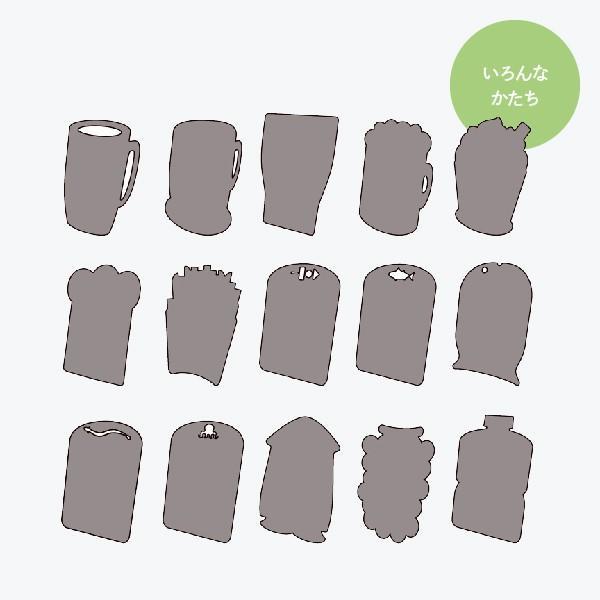 おしゃれな立て看板 シャツ形 ブラックボード|goods-pro|06