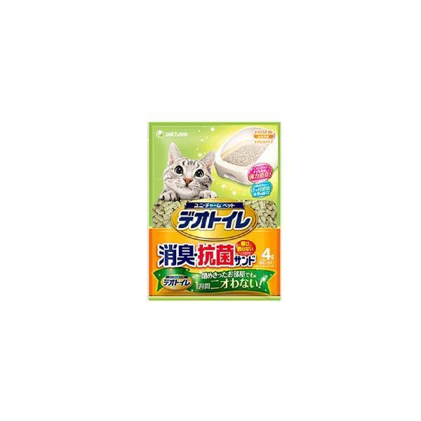 ユニ・チャームペット デオトイレ 飛び散らない消臭・抗菌サンド 4L【デオトイレ】 4個セット