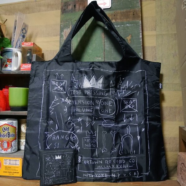 LOQI エコバック ローキー Museum Collection JEAN-MICHEL BASQUIAT Crown