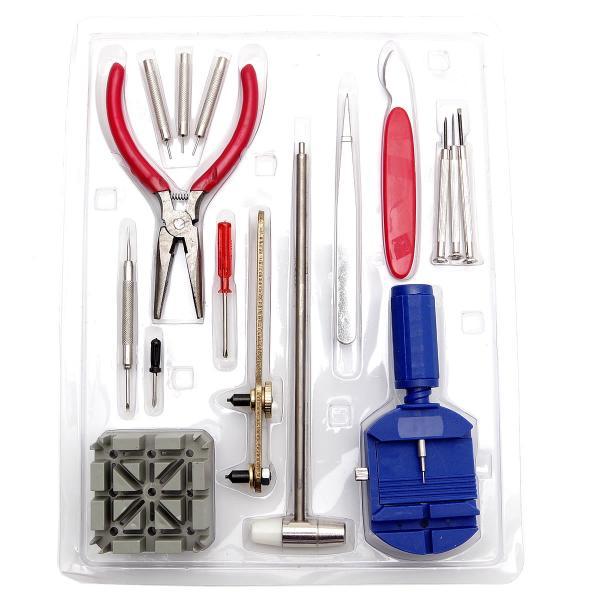 腕時計修理工具 16点セット バネ棒外し 電池交換 ベルト 調整 ドライバー ピンセット|goodsland|05