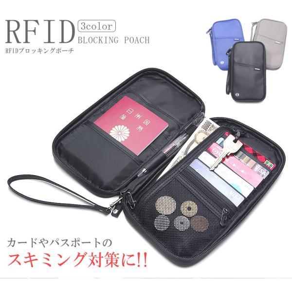 スキミング防止 パスポートケース クランチバッグ ハンドバッグ カードケース 男女兼用