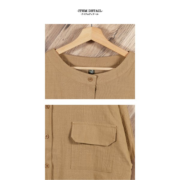 シャツ レディース トップス ブラウス ボタンシャツ 綿麻 麻混 羽織 シャツブラウス ゆったり 体型カバーメール便のみ送料無料2♪ goodstown 14
