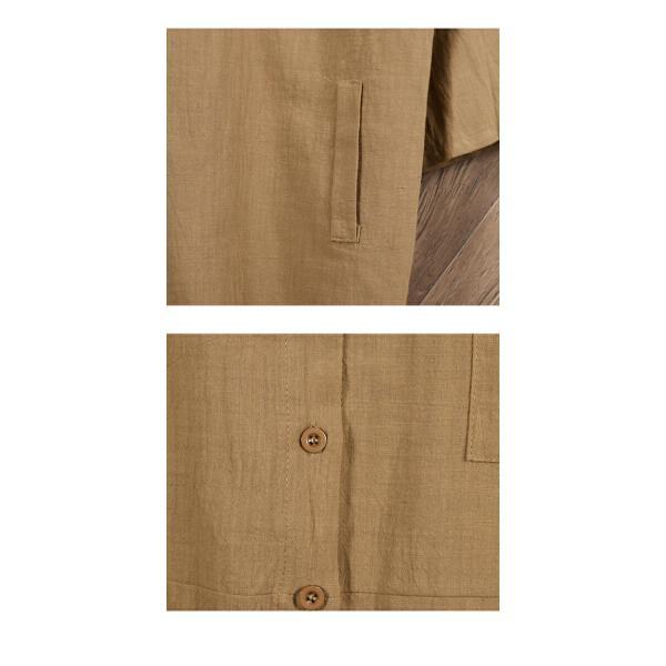 シャツ レディース トップス ブラウス ボタンシャツ 綿麻 麻混 羽織 シャツブラウス ゆったり 体型カバーメール便のみ送料無料2♪ goodstown 15