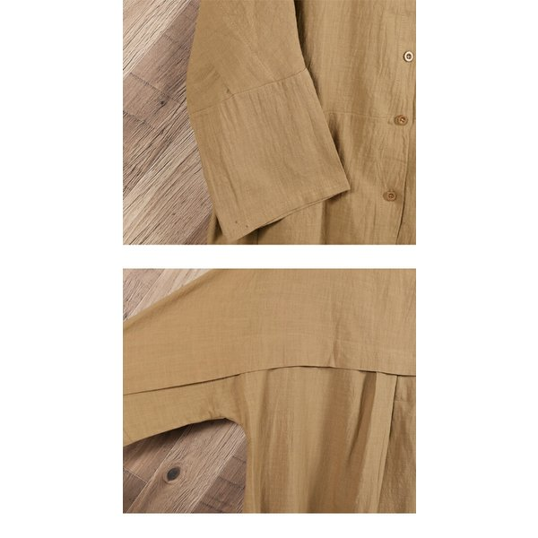 シャツ レディース トップス ブラウス ボタンシャツ 綿麻 麻混 羽織 シャツブラウス ゆったり 体型カバーメール便のみ送料無料2♪ goodstown 16
