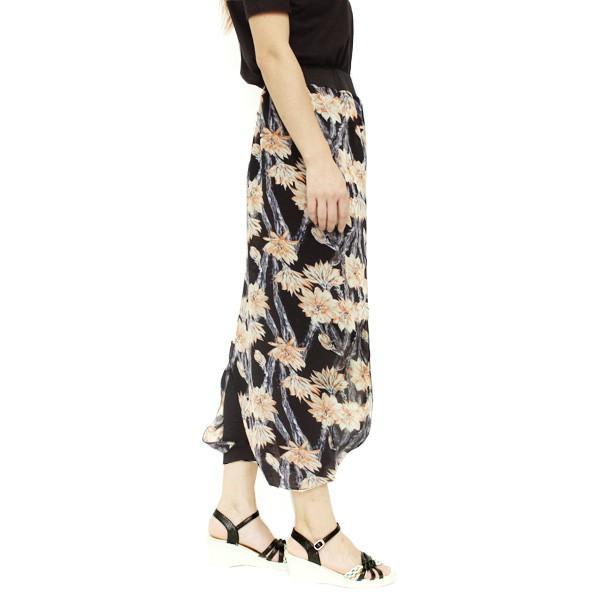 リゾートエキゾチックワイドパンツ ジョガーパンツ フレアパンツ スカート ガウチョ スカーチョメール便のみ送料無料2♪5月20日から31日入荷予定|goodstown|20