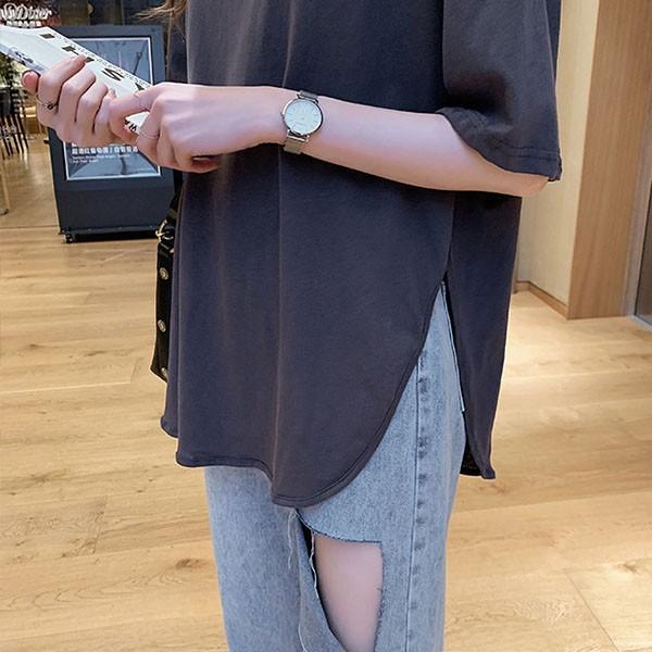 Tシャツ レディース ビッグシルエット 半袖 カットソー オーバーサイズ ゆったり トップス 春 夏 30代 40代 メール便のみ送料無料1♪8月10日から20日入荷予定|goodstown|15