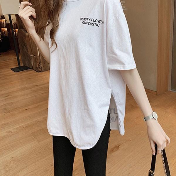 Tシャツ レディース ビッグシルエット 半袖 カットソー オーバーサイズ ゆったり トップス 春 夏 30代 40代 メール便のみ送料無料1♪8月10日から20日入荷予定|goodstown|03