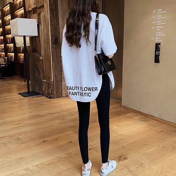 Tシャツ レディース ビッグシルエット 半袖 カットソー オーバーサイズ ゆったり トップス 春 夏 30代 40代 メール便のみ送料無料1♪8月10日から20日入荷予定|goodstown|04