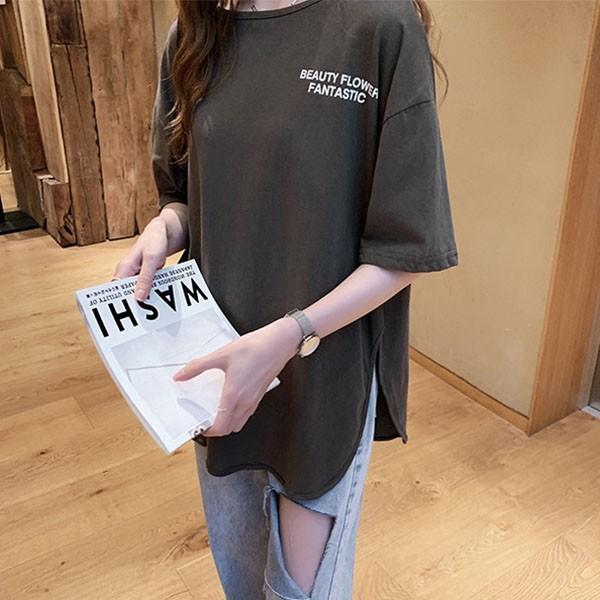 Tシャツ レディース ビッグシルエット 半袖 カットソー オーバーサイズ ゆったり トップス 春 夏 30代 40代 メール便のみ送料無料1♪8月10日から20日入荷予定|goodstown|08