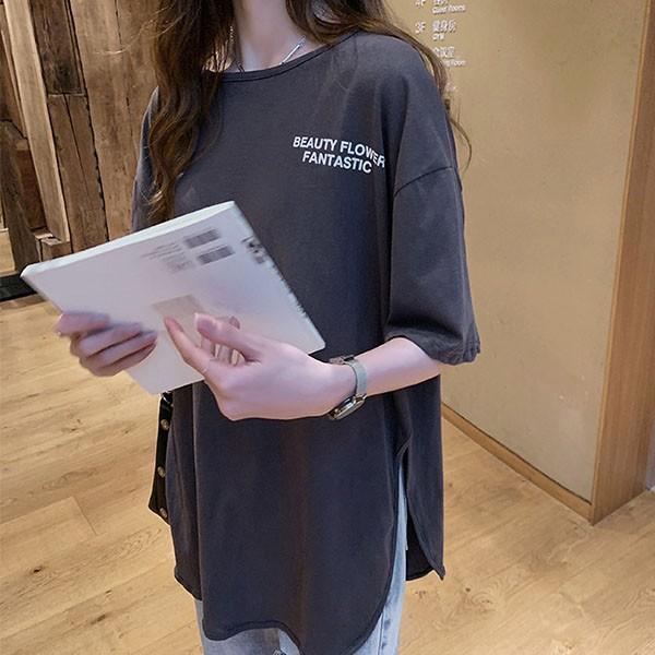Tシャツ レディース ビッグシルエット 半袖 カットソー オーバーサイズ ゆったり トップス 春 夏 30代 40代 メール便のみ送料無料1♪8月10日から20日入荷予定|goodstown|09