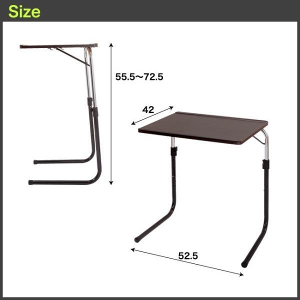 サイドテーブル おしゃれ 木製 折りたたみ 折り畳み 角度調節付き フォールディングテーブル 昇降式テーブル 送料無料|goodstyle|15