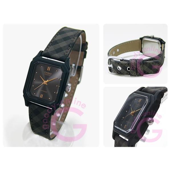 CASIO(カシオ) LQ-142LB-1A/LQ142LB-1A ベーシック ブラウン チェック キッズ・子供 かわいい! レディースウォッチ チープカシオ 腕時計 【あすつく】
