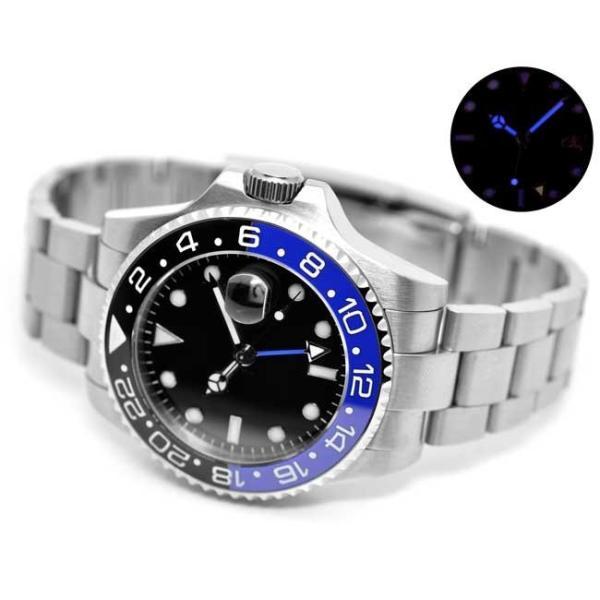 b32daebce8 ... 腕時計 メンズ NOLOGOノーロゴ GMTマスター サファイアガラス 自動巻 NL-552S4AS 送料無料 即納
