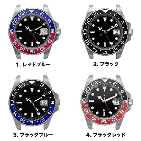 腕時計 メンズ NOLOGO ノーロゴ GMTマスター パイロットウォッチ NL000M|googoods|02