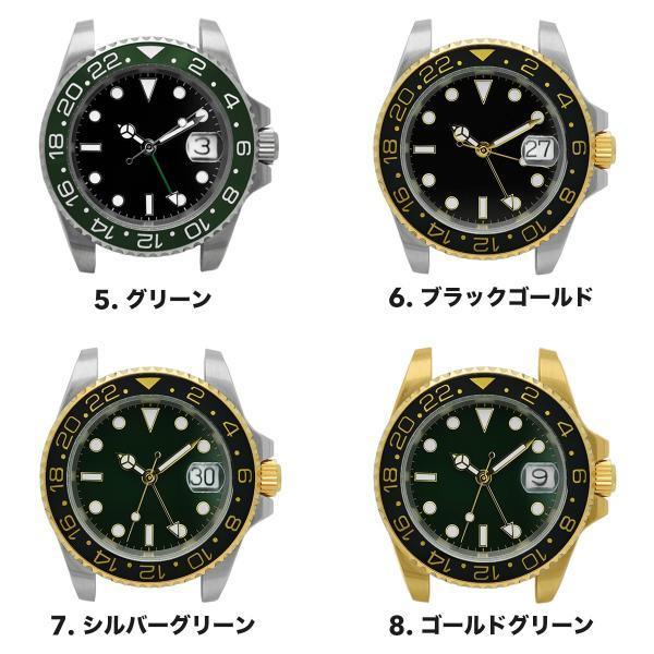腕時計 メンズ NOLOGO ノーロゴ GMTマスター パイロットウォッチ NL000M|googoods|03