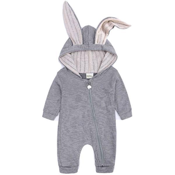 赤ちゃん 着ぐるみ うさぎ ロンパース あったか ベビー 服 ハロウィン 衣装 ウサギ カバーオール 仮装 コスプレ goovice 10