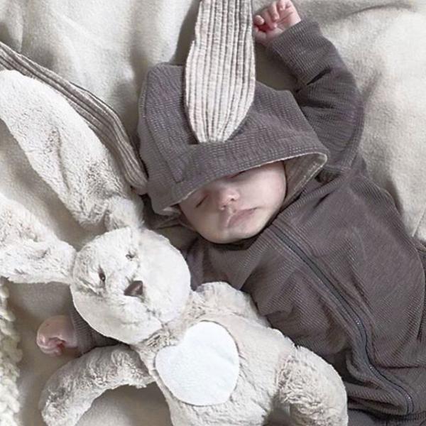 赤ちゃん 着ぐるみ うさぎ ロンパース あったか ベビー 服 ハロウィン 衣装 ウサギ カバーオール 仮装 コスプレ goovice 05
