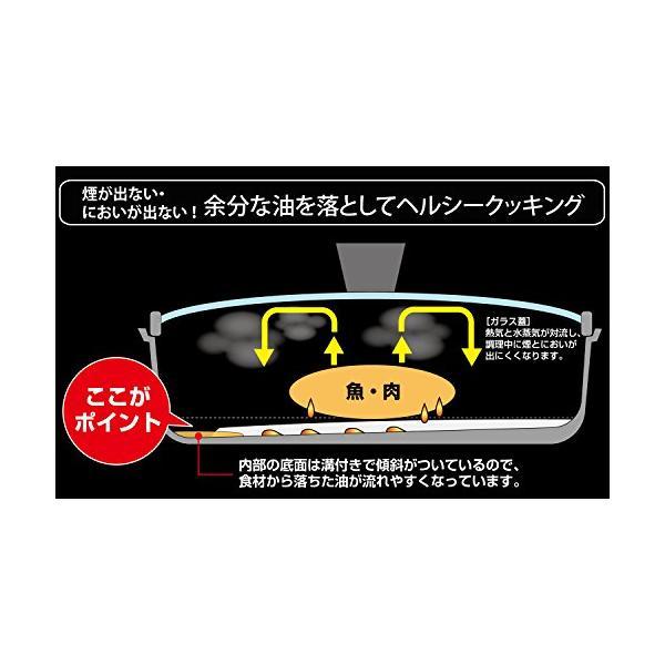 和平フレイズ フライパン グリルパン 切り身魚にちょうどいい魚焼きパン こんがり庵 蓋付 ダイヤモンドコート IH対応 KM-9149|gorira-store|05